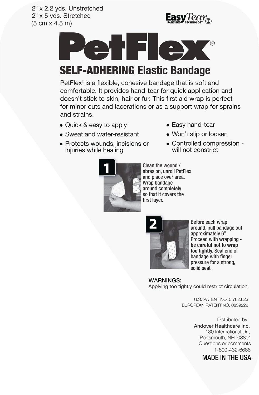 Paw Prints 2 6-CT 2 x 5 yds. PetFlex Self-Adhering Elastic Bandage