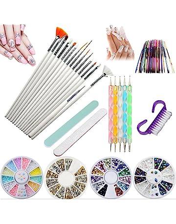 Kit de herramientas para manicura de uñas, pinceles para pintar uñas, pinceles de punto