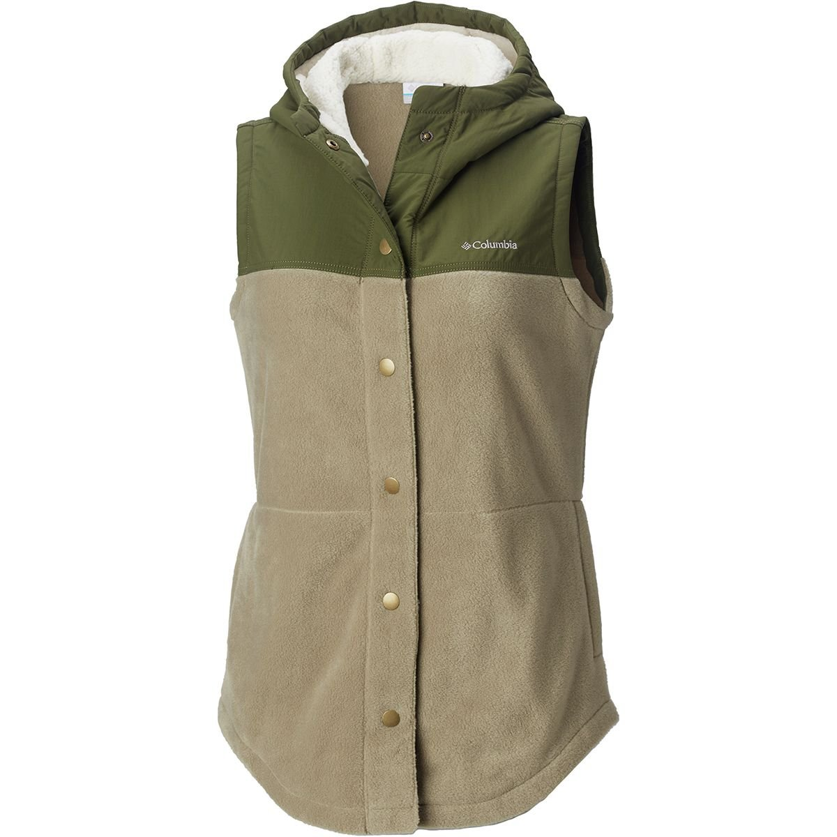 Columbia Women's Benton Springs Overlay Vest, sage, nori, XL