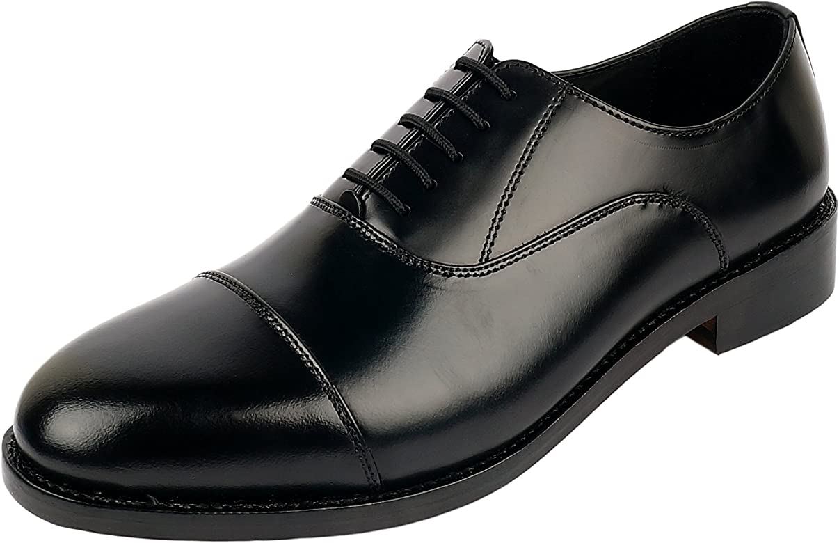 various styles finest selection details for Men's Genuine Imported Leather with Leather Sole Goodyear Welted Oxford  Dress Shoes