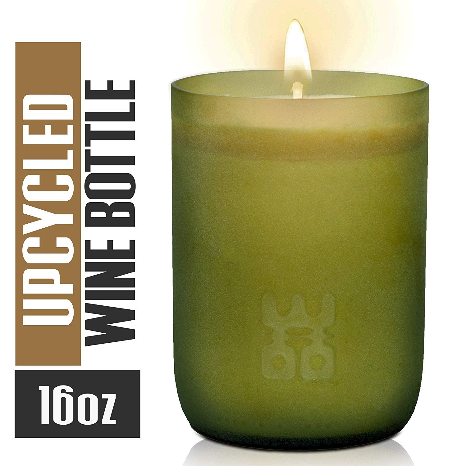 Woo Worldsの機会Lucky Candle Upcycledワインボトル XL- 10 oz B0778NRZGJ Tranquility Scents XL- 10 oz