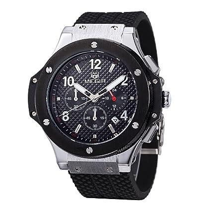 Relojes de Hombre Chronograph Sport Watch De Hombre Para Caballero De Vestir RE0063