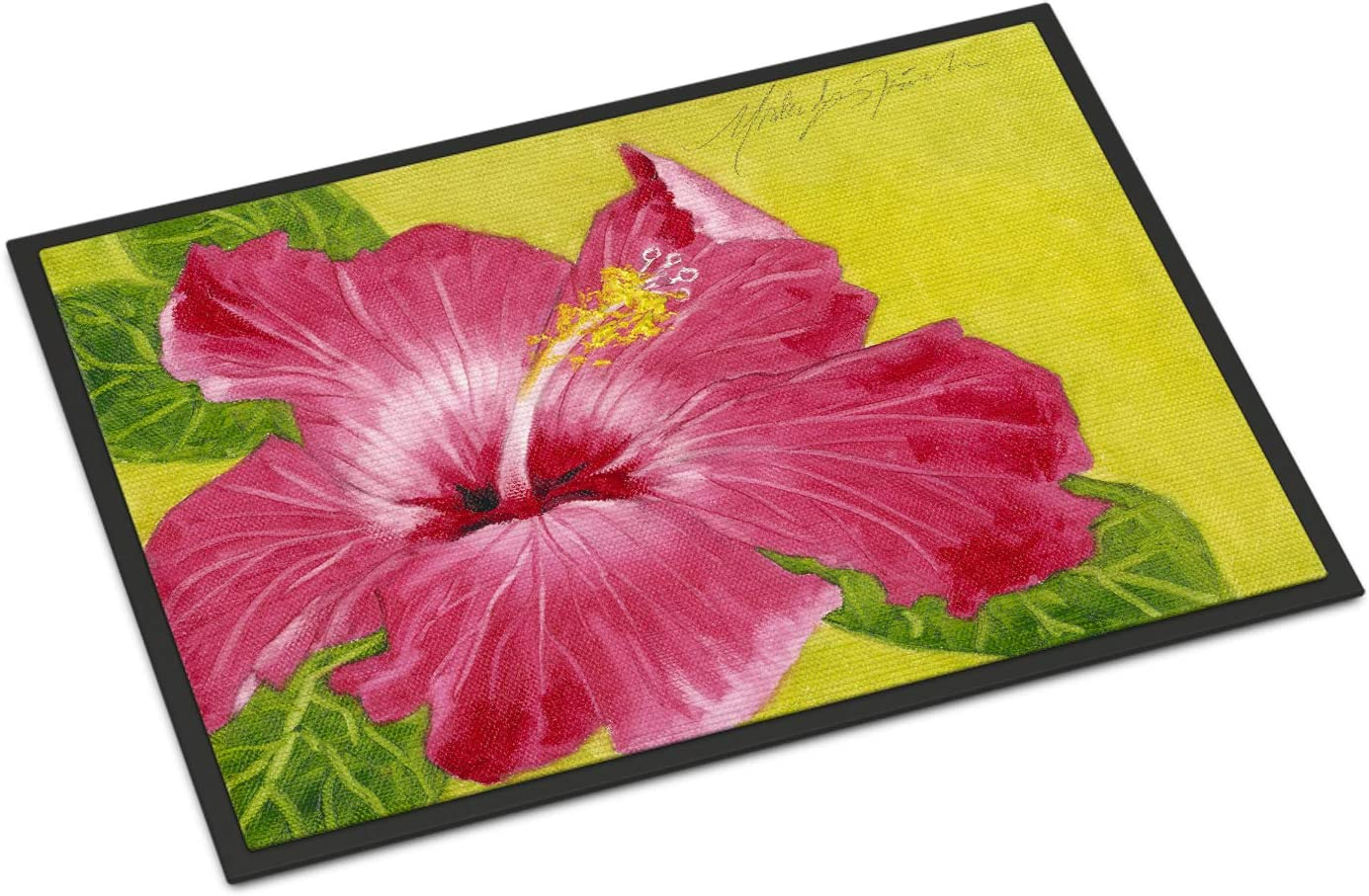Caroline s Treasures TMTR0317MAT Hot Pink Hibiscus by Malenda Trick Indoor or Outdoor Mat 18×27, 18H X 27W, Multicolor