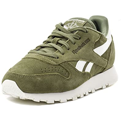 62fc3fcbba3 Reebok CL Leather Suede Womens Trainers  Amazon.co.uk  Shoes   Bags