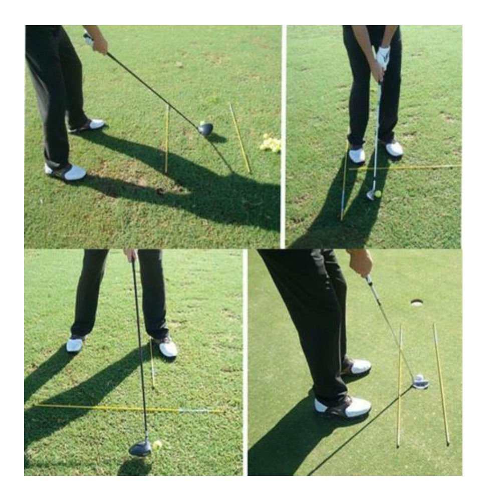 Amazon.com: Golf Palos de alineación Swing Avión Tour ayuda ...