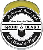 Beard Balm   Leave-in Conditioner & Softener for Men Care   Best Facial Hair & Mustache Grooming Wax   Great for Smooth & Moisturize   Natural & Organic-2oz