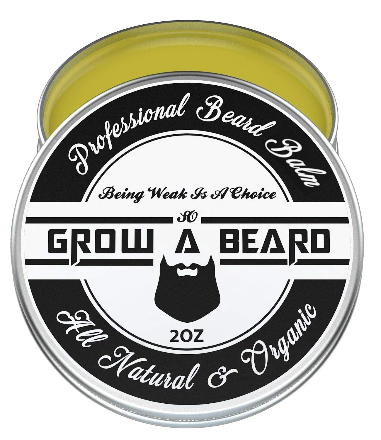 Beard Balm | Leave-in Conditioner & Softener for Men Care | Best Facial Hair & Mustache Grooming Wax | Great for Smooth & Moisturize | Natural & Organic-2oz Grow A Beard
