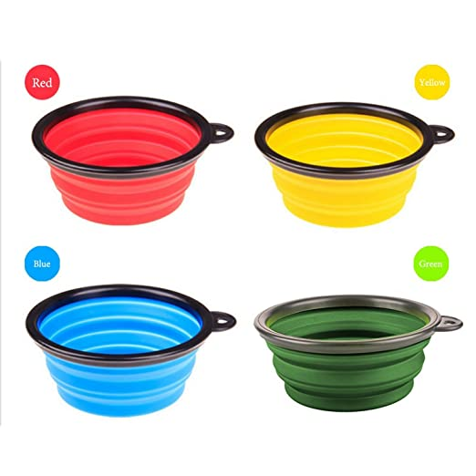 Dog Feeding New Plastic Dog Bowl Candy Color Outdoor Travel Portable Puppy Doogie Food Container Feeder Dish On Sale Fixing Prices According To Quality Of Products Home & Garden