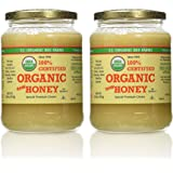 YS Organic Bee Farms CERTIFIED ORGANIC RAW HONEY 100% CERTIFIED ORGANIC HONEY Raw, Unprocessed, Unpasteurized - Kosher 32oz(pack of 2)