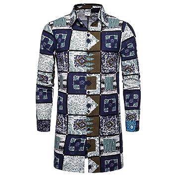 Rawdah_Uomo Originale Uomo Camicia Slim Fit Facile Stiro