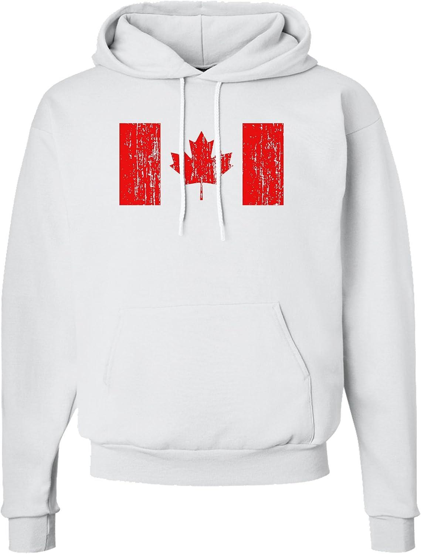 TOOLOUD Distressed Canadian Flag Maple Leaf Hoodie Sweatshirt