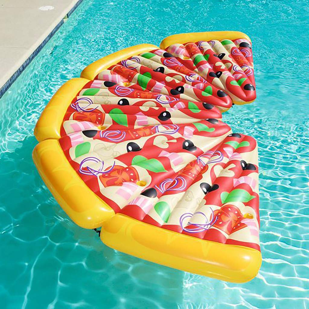 Pizza Hammock Rafts for Swimming Pools Water Lounge Chair Single Floating Row Water Bed Water Cushion Inflatable Float Pool Floats by FGDJEE