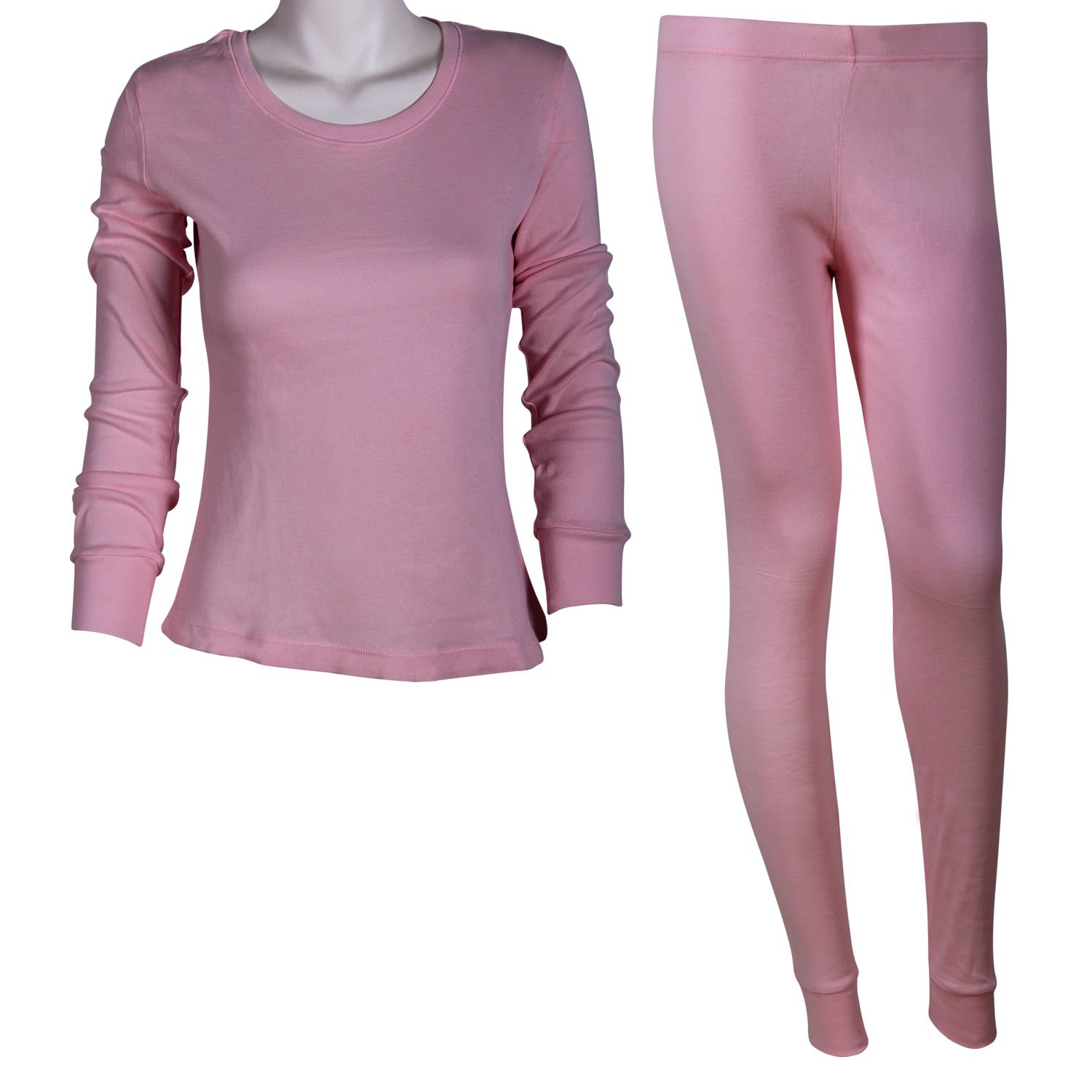 Godsen Women's Light Weight Cotton Thermal Underwear Set Crewneck Top & Bottoms XS-L 85201802