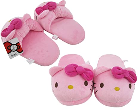 de6c650a6 Image Unavailable. Image not available for. Color: Soft Pink Hello Kitty  Slippers -Plush Sole Slippers
