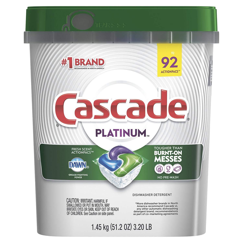 Platinum ActionPacs Dishwasher Detergent, Fresh Scent 92 pacs drfg