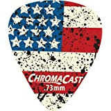 ChromaCast CC-DP-USA-73-10PK USA Flag Delrin Guitar Picks .73mm, Medium Dura, 10-pack