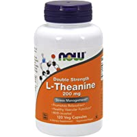 Now Supplements, L-Theanine 200 mg with Inositol, Stress Management, 120 Veg Capsules, Unflavored