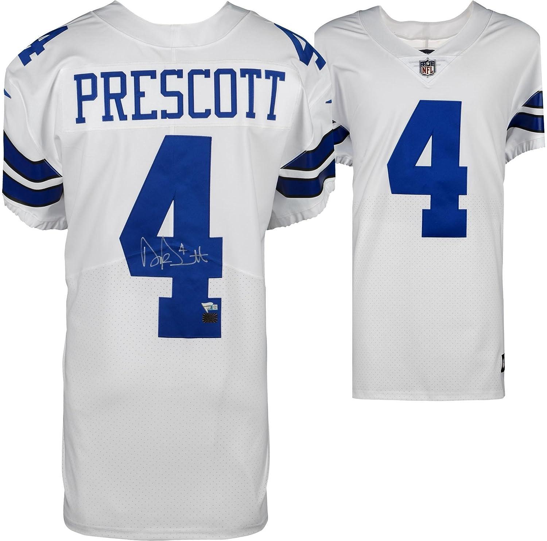 c1ab03a28a4 Dak Prescott Dallas Cowboys Autographed White Nike Elite Jersey - Fanatics  Authentic Certified - Autographed NFL Jerseys at Amazon's Sports  Collectibles ...