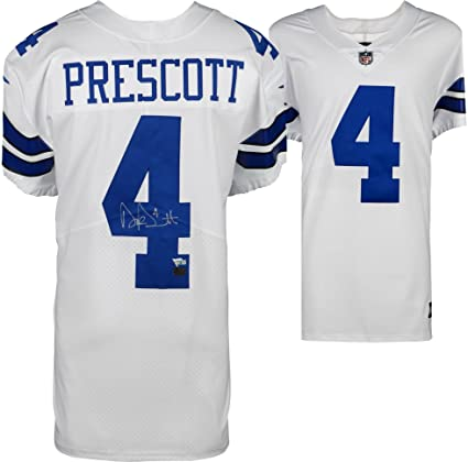 e4395df63d6 Dak Prescott Dallas Cowboys Autographed White Nike Elite Jersey - Fanatics  Authentic Certified - Autographed NFL Jerseys at Amazon's Sports  Collectibles ...