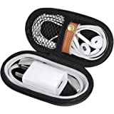ZFRE Headphones Carrying Case, Travel Portable Storage Bags for Bluetooth Wireless Headphones, Cords, Cable, iPhones Earbuds, Charger, Airpods, USB Flash Driver, MP3(Oval)