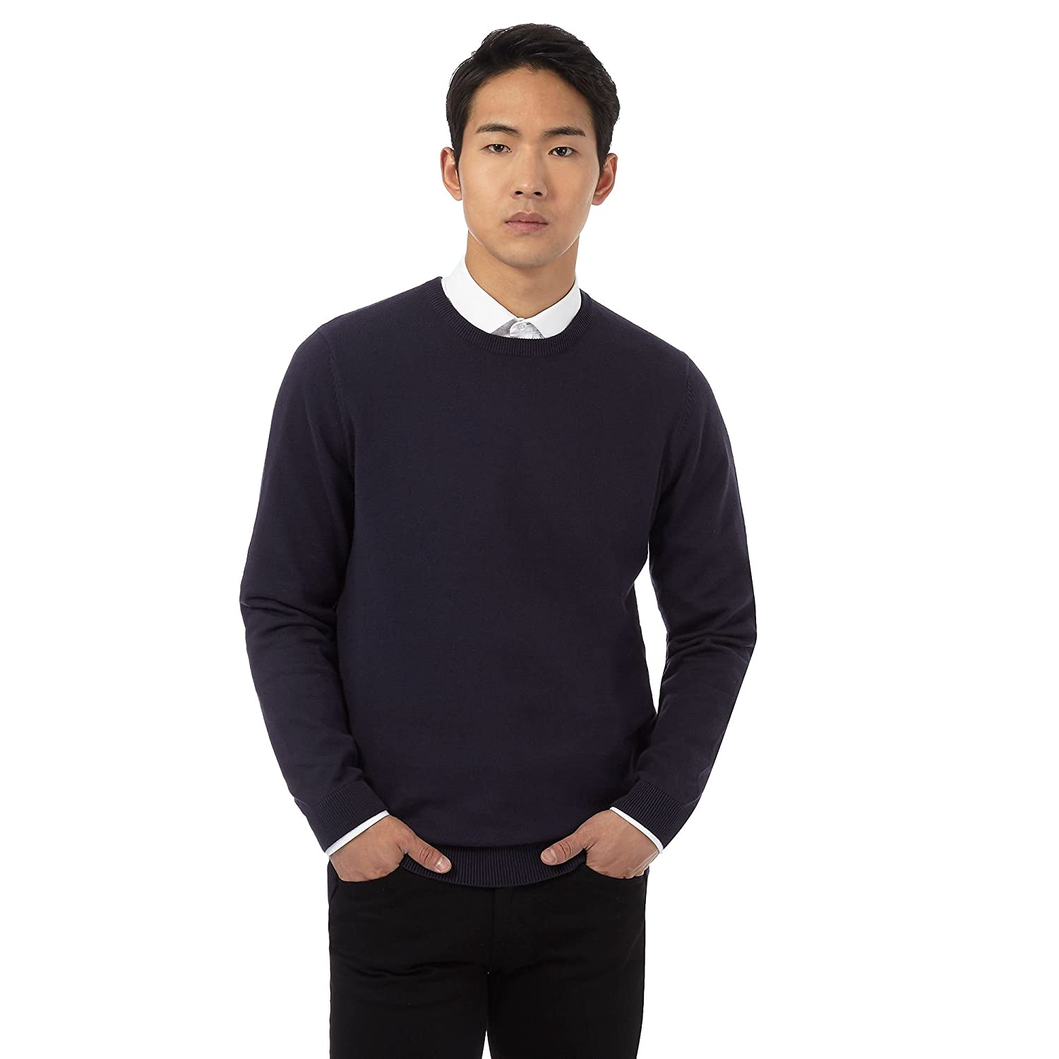 Red Herring Mens Navy Crew Neck Jumper