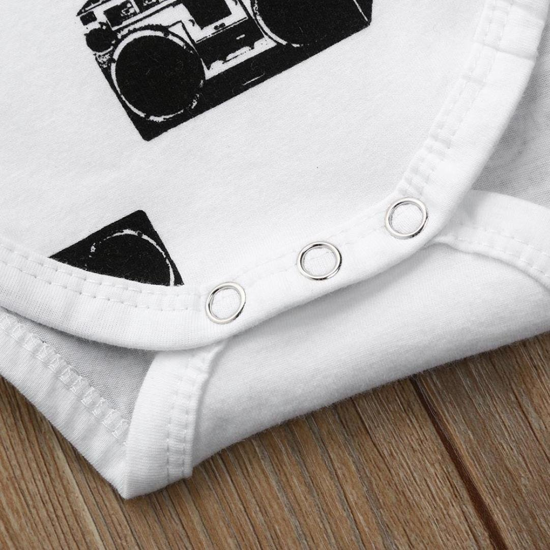 KaiCran Baby Layette Set Onesies Romper Baby Girls Short Sleeve Chiffon Romper Jumpsuit Clothes