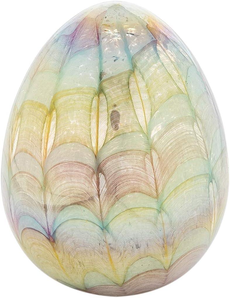 GALLERIE II Multi Easter Egg Glass Art Rainbow Colored Glitter Spring Collectible Figure Figurine Home Table Decor Multicolored