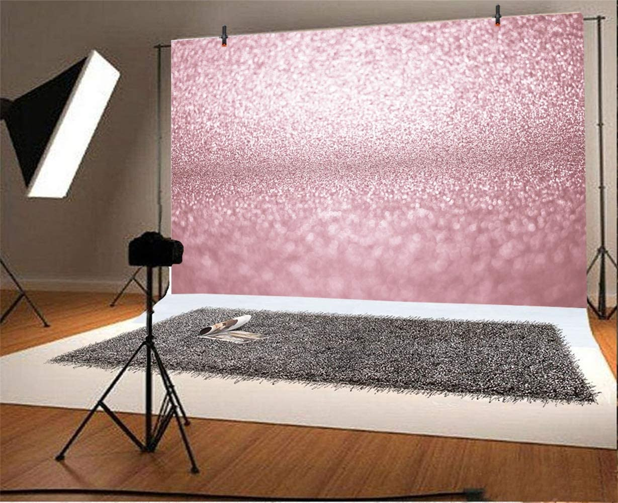 8x6.5ft Dreamlike Bokeh Rose Gold Glitter Backdrop Polyester Abstract Rustic Texture Photography Background Child Kids Newborn Girl Adult Portrait Shoot Studio Photo Props