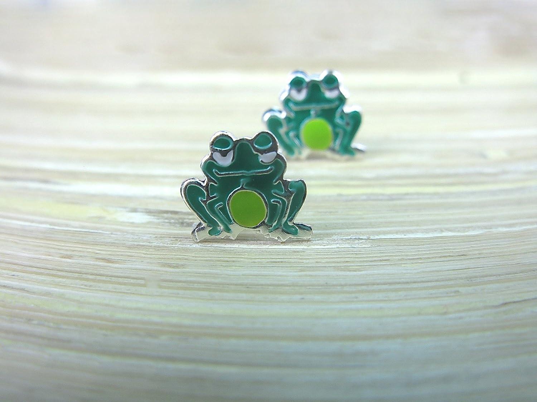 FaithOwl Frog 925 Sterling Silver Stud Earrings
