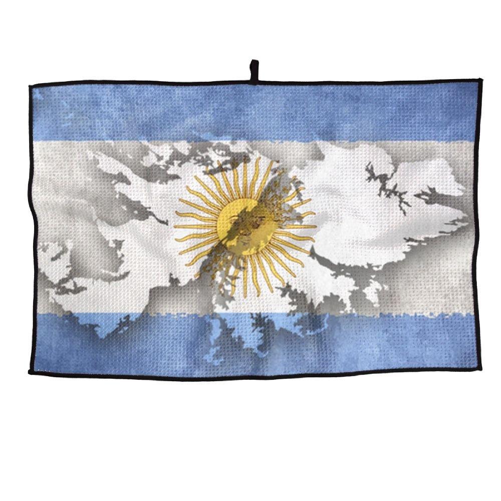 ゲームライフアルゼンチン国旗Personalizedゴルフタオルマイクロファイバースポーツタオル   B07FC63YXG