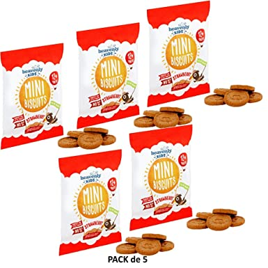 Heavenly Tasty Galletas Mini de Fresa 30g Pack de 5: Amazon ...