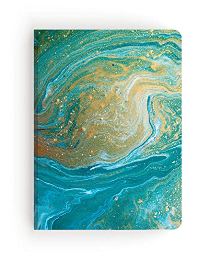 Paper House Productions JL3014 Teal Marble Softcover Journal Dot Grid Notebook