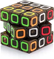 Tollbuy Speed Cube 3x3 Stickerless Smooth Magic Cube Puzzle Transparent Black