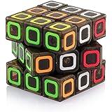 Tollbuy Speed Cube 3x3 Stickerless Smooth Magic Cube Puzzle Transparent Black