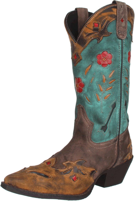 Laredo Womens Miss Kate Western Cowboy Dress Boots Knee High Mid Heel 2-3