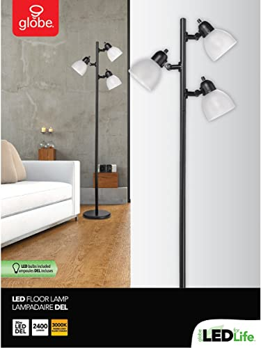 Globe Electric 12719 Life 63″ 3-Light Floor Lamp