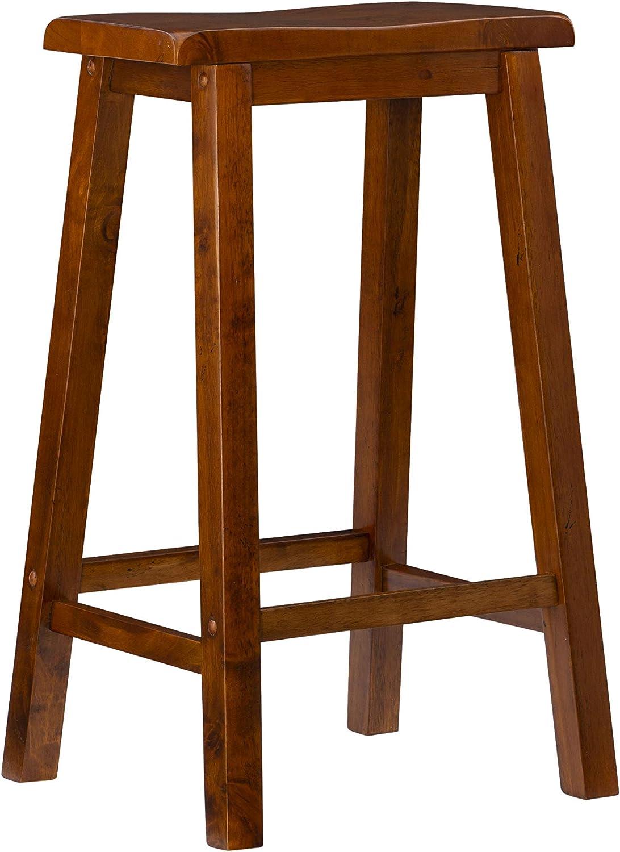 "Powell Furniture Bar Stool, 29"", Honey Brown"