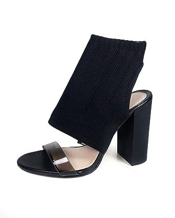 54cad581025 Zara Women Stretch fabric high heel sandals 1306 301 - Black - 41 EU ...