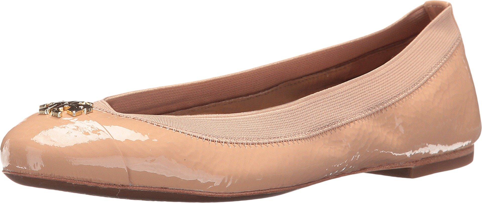 Tory Burch Jolie Ballet Flat (8 B (M) US, Light Oak)