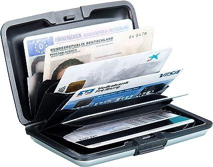 Xcase Kartensafe Edles Rfid Kartenetui Aus Aluminium Schutz Für Bis Zu 6 Chip Karten Chipkarten Etui