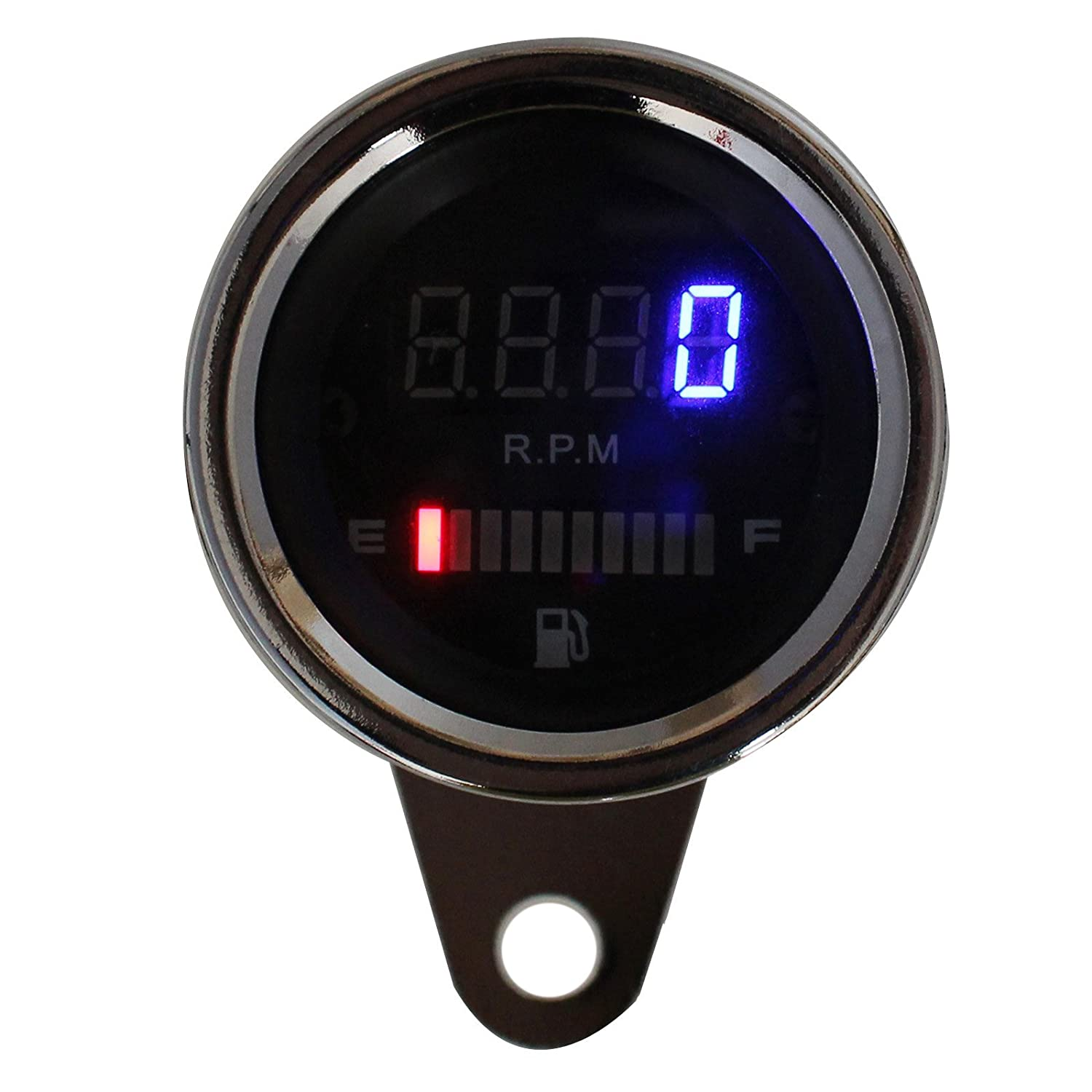 motorcycle odometer digital lcd speedometer motor tachometer 12v 2 in 1 motorcycle led digital speedometer tachometer speed fuel lever gauge