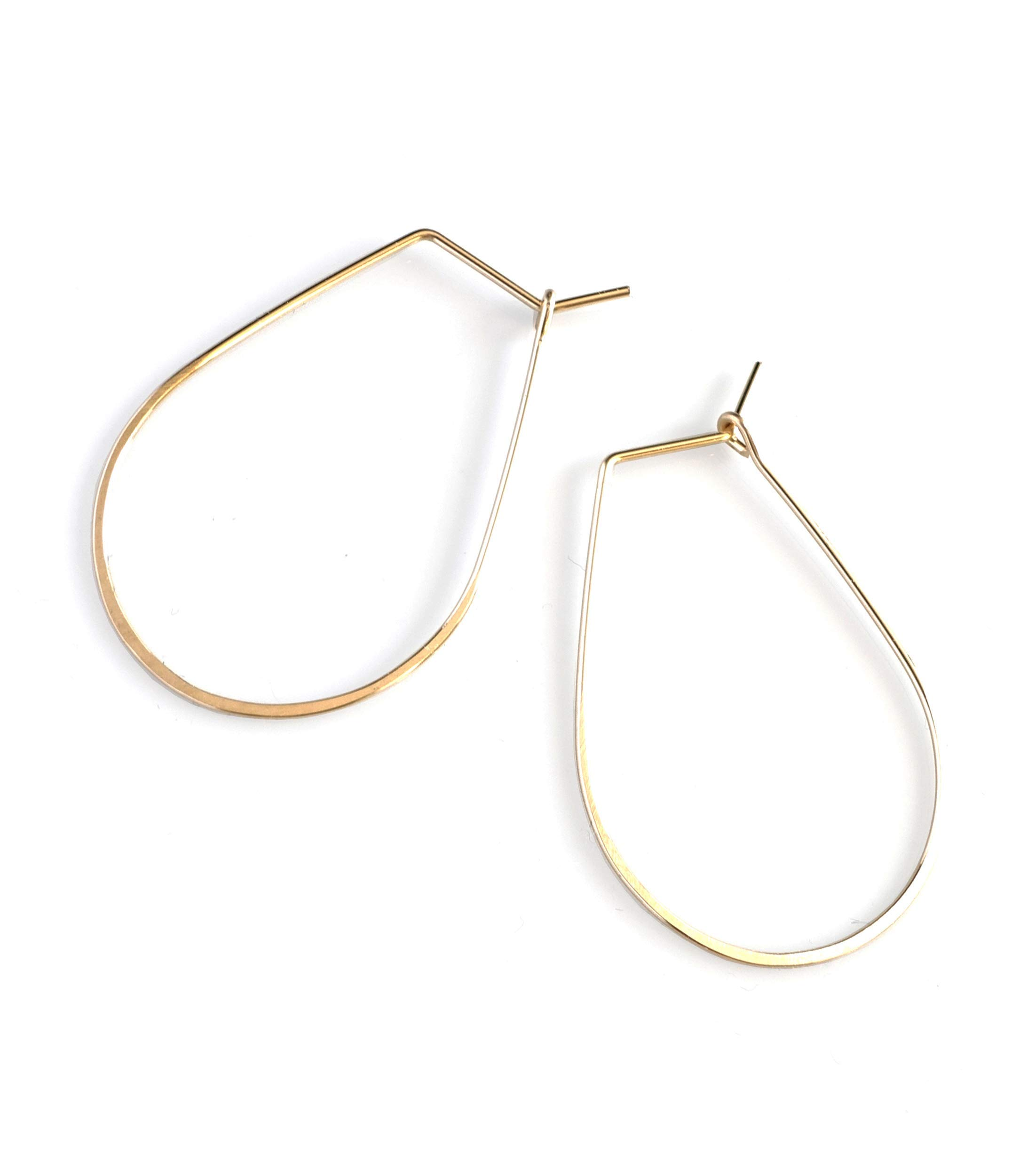Featherweight Pear Earrings – Small Gold by April Soderstrom (Image #1)