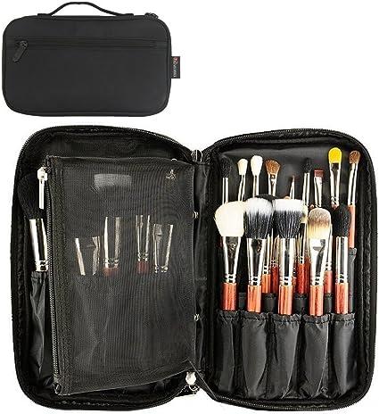 Mlmsy Maquillaje Bolsa Para Organizador De Cosméticos Pinceles De Maquillaje Profesional Pinceles De Maquillaje De Belleza De Maquillaje Cepillo Bolsa De Almacenamiento Con Correa: Amazon.es: Belleza