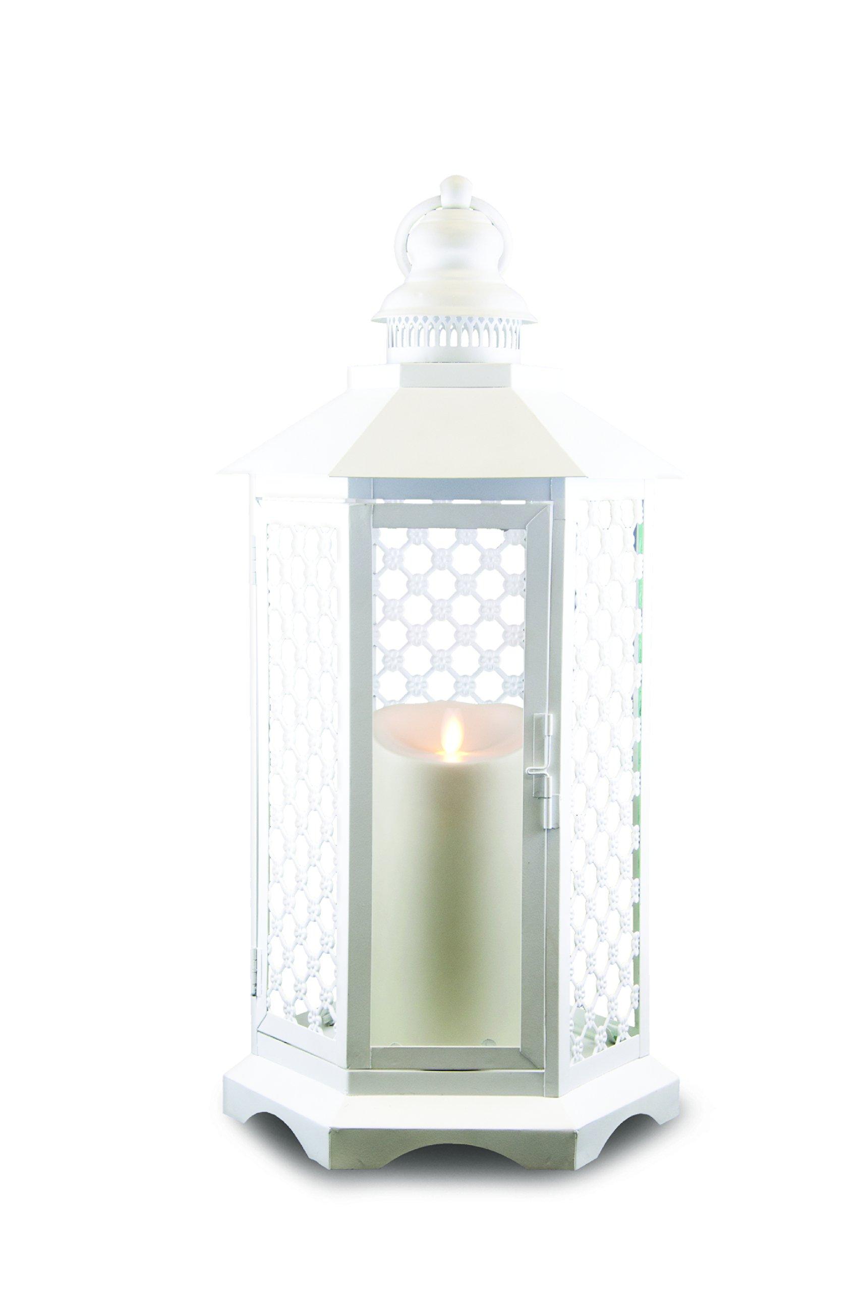 GKI/Bethlehem Lighting Lattice Luminara Lantern, 19-Inch, White