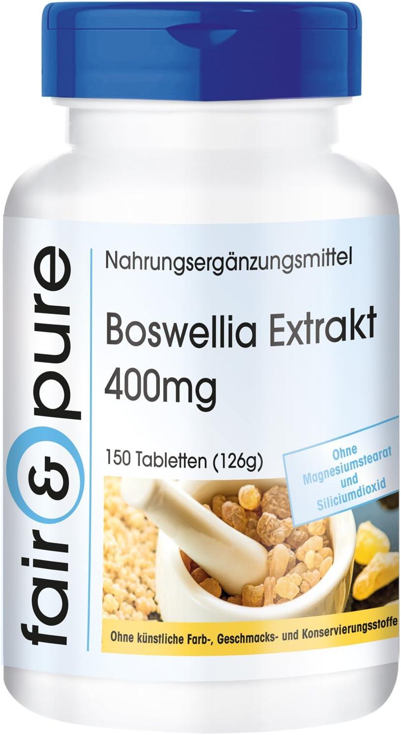 Extracto de Boswellia 400mg 150 comprimidos y conservantes