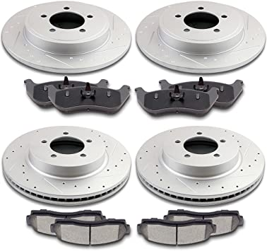 Fit 02 03 04 05 Ford Explorer Mercury Mountaineer Front And Rear Brake Disc Pads