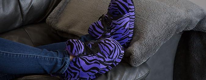 5f184fd52 Happy Feet - Snooki s Purple Zebra Print - Snooki Snooki Slippers - Small   Amazon.co.uk  Shoes   Bags