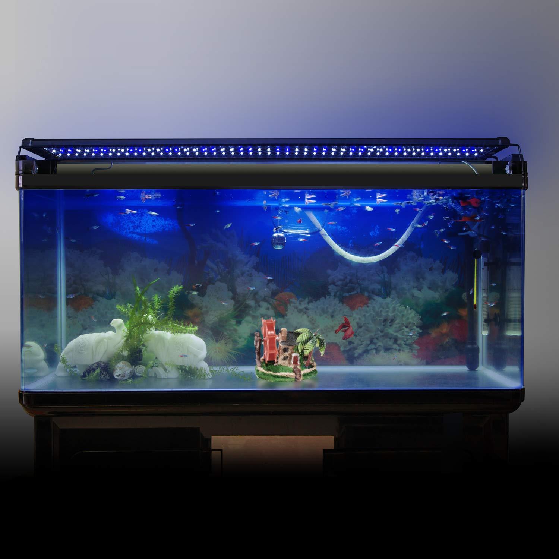 ... FTALGS Aquarium LED Aquarium Beleuchtung, Aquariumbeleuchtung Lampe  Weiß Blau Licht Mit Verstellbarer Für Aquarium Aquariumbeleuchtung ...