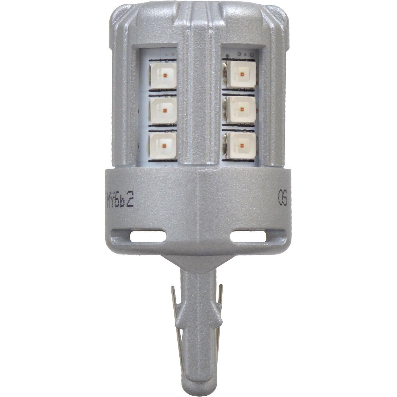 Contains 2 Bulbs SYLVANIA 7440 T20 Red LED Bulb,