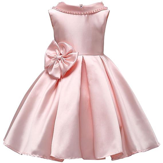 6b121c1908bc Happy Cherry Kids Princess Party Dress Beaded Turn-Down Collar ...
